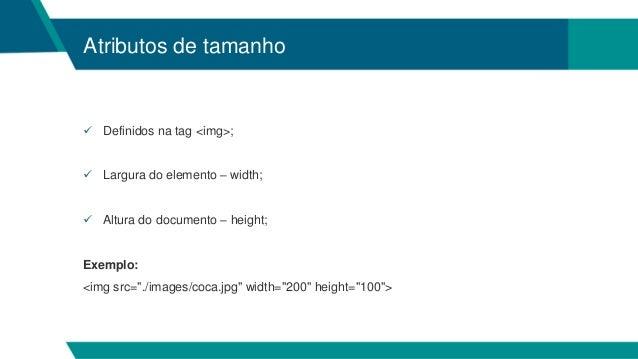 9c4489bcb2 Aula III HTML - Criação de Sites I