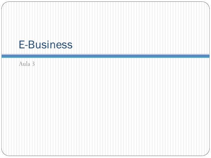 E-BusinessAula 3