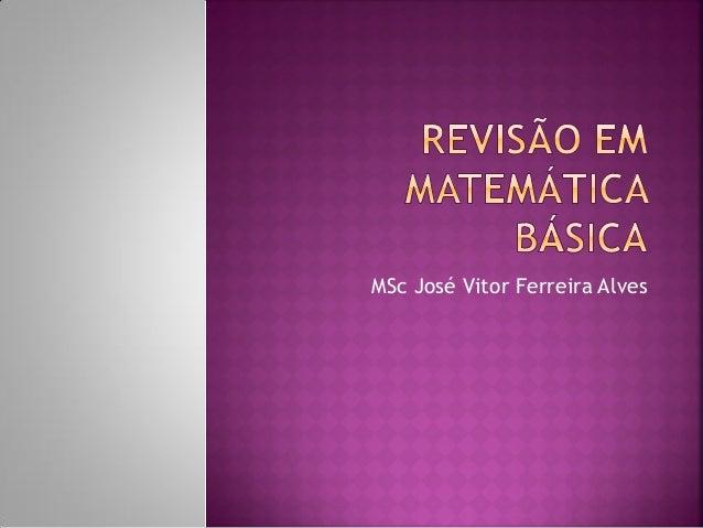 MSc José Vitor Ferreira Alves
