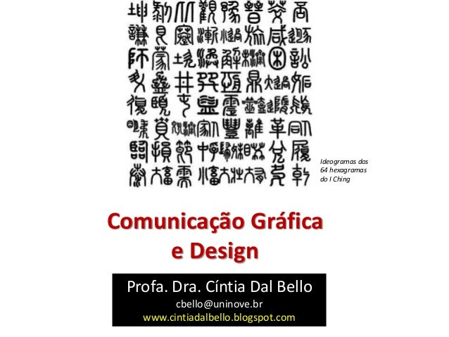 Comunicação Gráfica e Design Profa. Dra. Cíntia Dal Bello cbello@uninove.br www.cintiadalbello.blogspot.com Ideogramas dos...