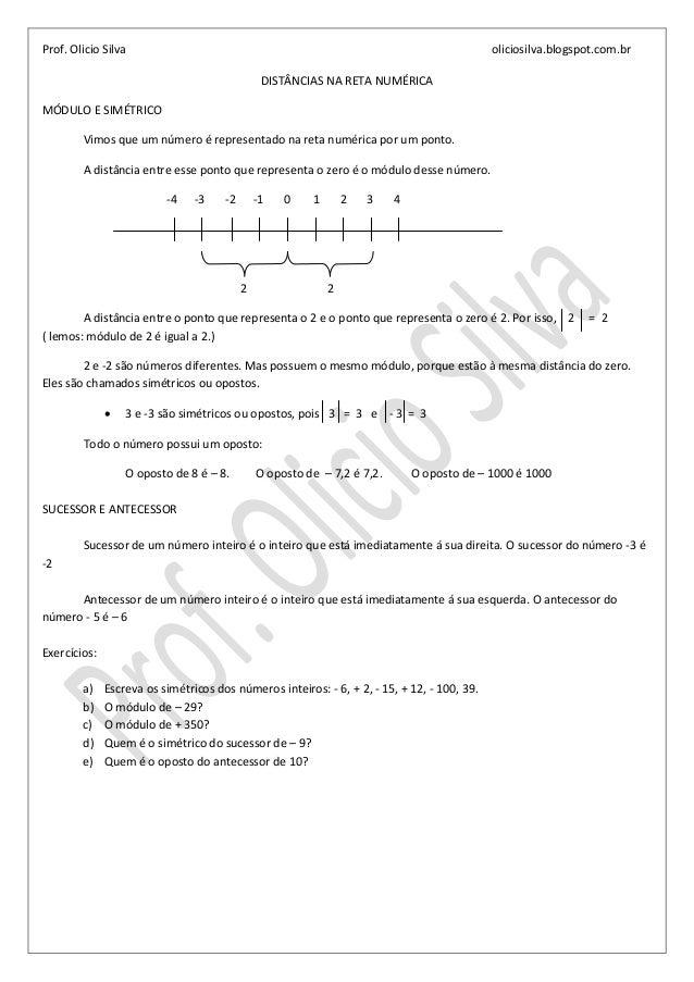 Prof. Olicio Silva                                                                           oliciosilva.blogspot.com.br  ...