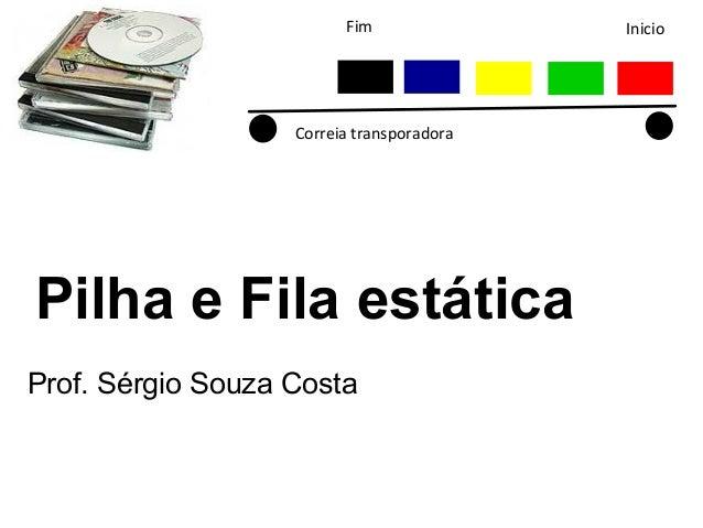 Fim  Correia transporadora  Pilha e Fila estática Prof. Sérgio Souza Costa  Inicio