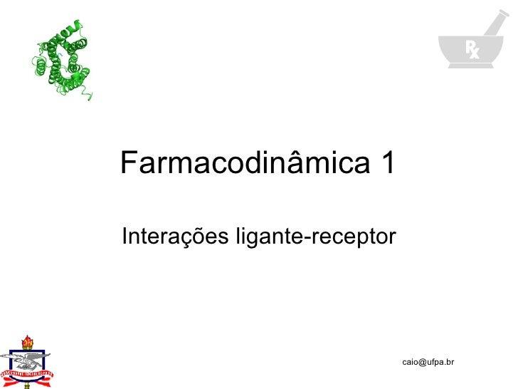 Farmacodinâmica 1 Interações ligante-receptor