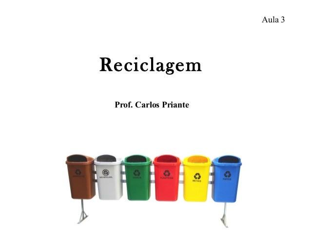 Aula 3 Prof. Carlos Priante Reciclagem