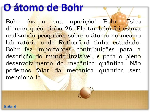 O modelo do atomo niels bohr