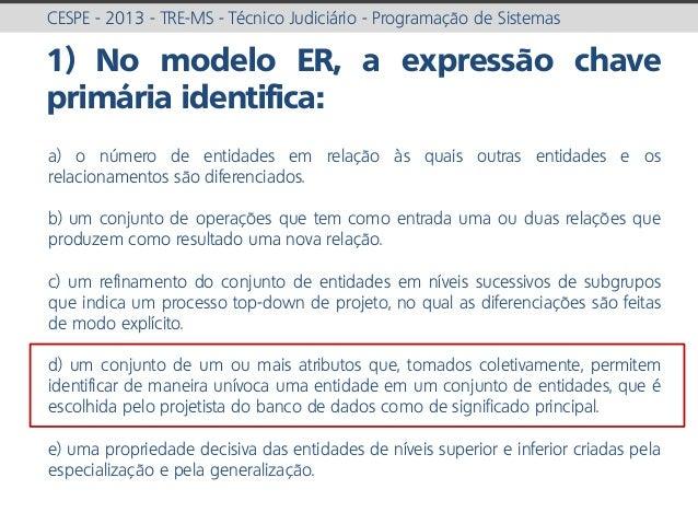 prof. Gustavo Zimmermann | contato@gust4vo.com CESPE - 2013 - TRE-MS - Técnico Judiciário - Programação de Sistemas 1) No ...