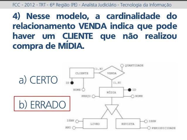 prof. Gustavo Zimmermann | contato@gust4vo.com FCC - 2012 - TRT - 6ª Região (PE) - Analista Judiciário - Tecnologia da Inf...