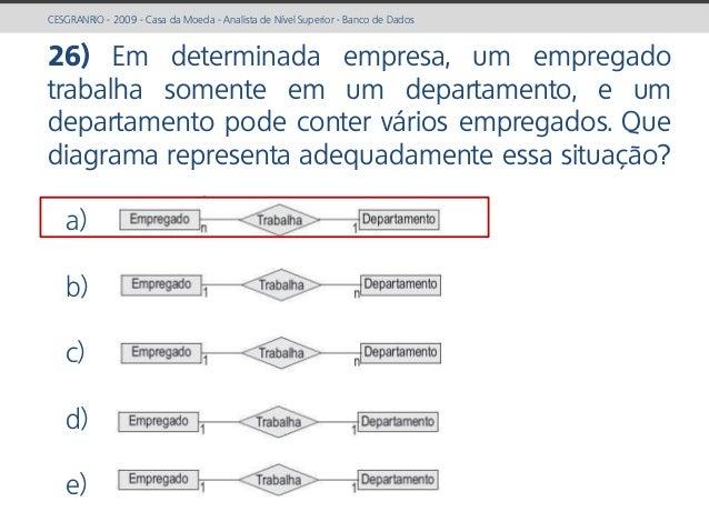 prof. Gustavo Zimmermann | contato@gust4vo.com CESGRANRIO - 2009 - Casa da Moeda - Analista de Nível Superior - Banco de D...