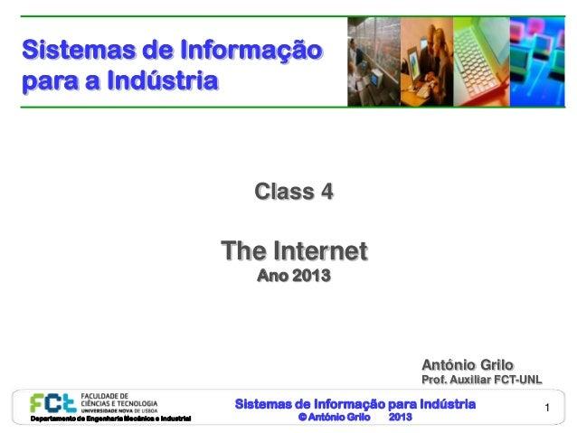 Sistemas de Informaçãopara a Indústria                                                      Class 4                       ...