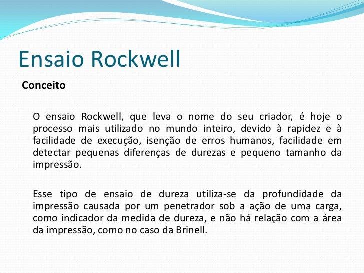 Ensaio RockwellDescrição