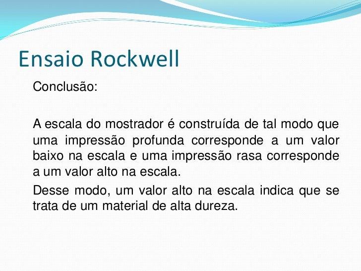 Ensaio Rockwell