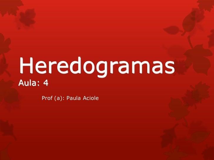 HeredogramasAula: 4     Prof (a): Paula Aciole
