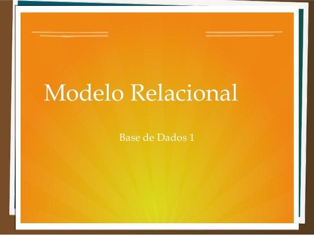 Modelo Relacional Base de Dados 1