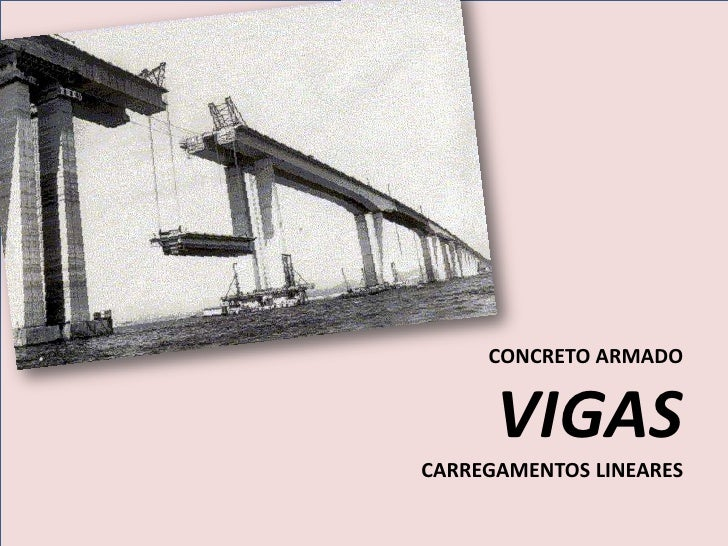 CONCRETO ARMADO      VIGASCARREGAMENTOS LINEARES