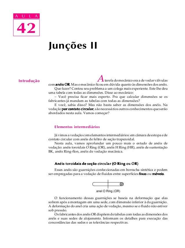 A UA U L A     L A    4242              Junções II Introdução                                  A   tarefa do mecânico era ...
