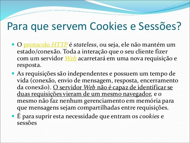Aula 5 - Cookies e Sessões em PHP Slide 2