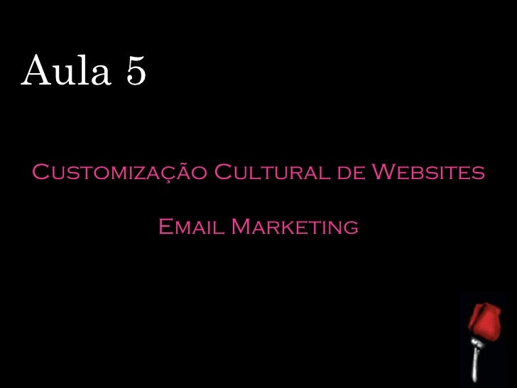 Aula 5 Customização Cultural de Websites Email Marketing