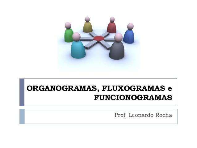 ORGANOGRAMAS, FLUXOGRAMAS e FUNCIONOGRAMAS Prof. Leonardo Rocha