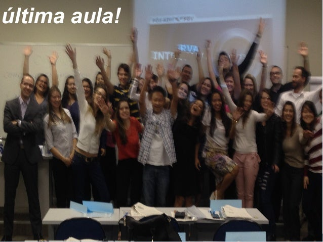 última aula!