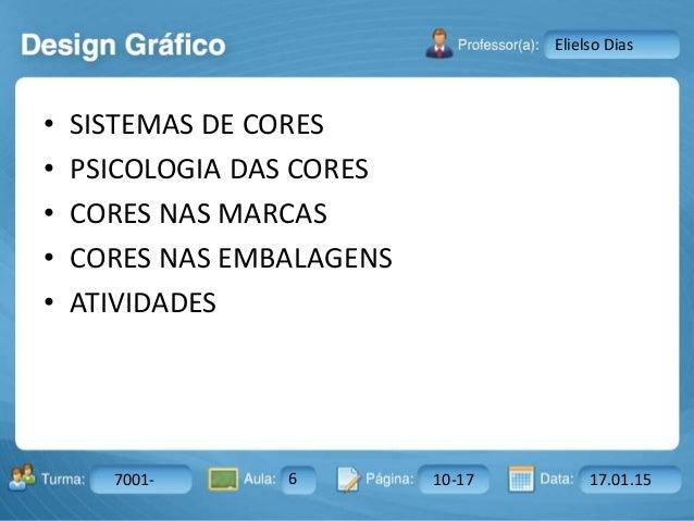 Aula: Pág: Data:10 10 a 17 18-jan-122503-BTurma: Instrutor: Ricardo Paladini Matos 7001- 6 10-17 17.01.15 Elielso Dias • S...