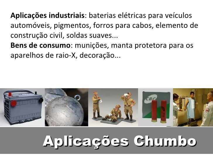 Aplicações industriais: baterias elétricas para veículosautomóveis, pigmentos, forros para cabos, elemento deconstrução ci...