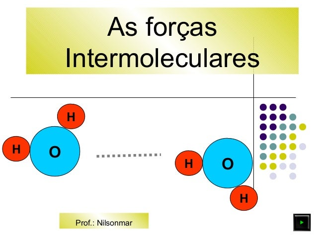 As forças  Intermoleculares  O  H  H  H  H O  Prof.: Nilsonmar