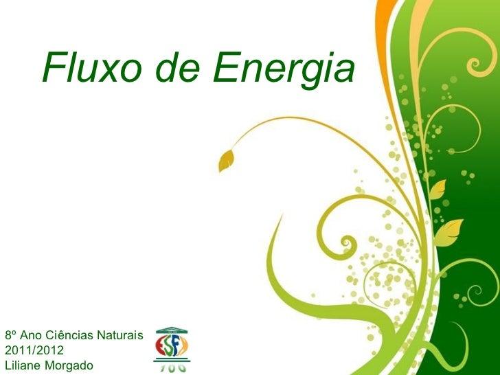Fluxo de Energia8º Ano Ciências Naturais2011/2012                  Free Powerpoint TemplatesLiliane Morgado               ...