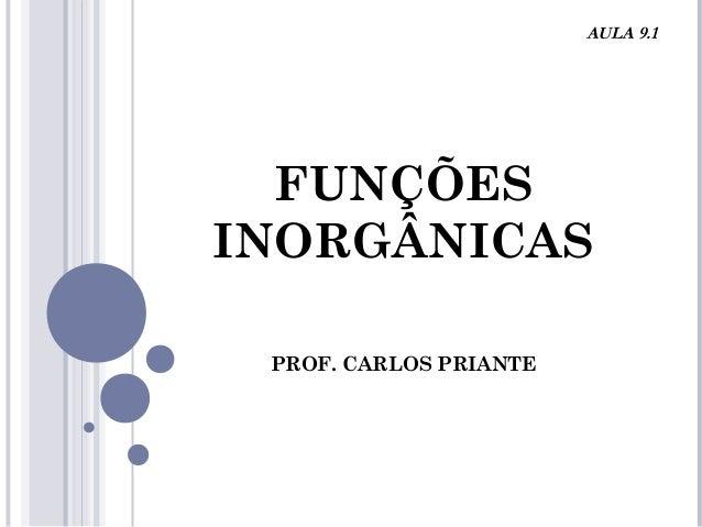 FUNÇÕES INORGÂNICAS PROF. CARLOS PRIANTE AULA 9.1
