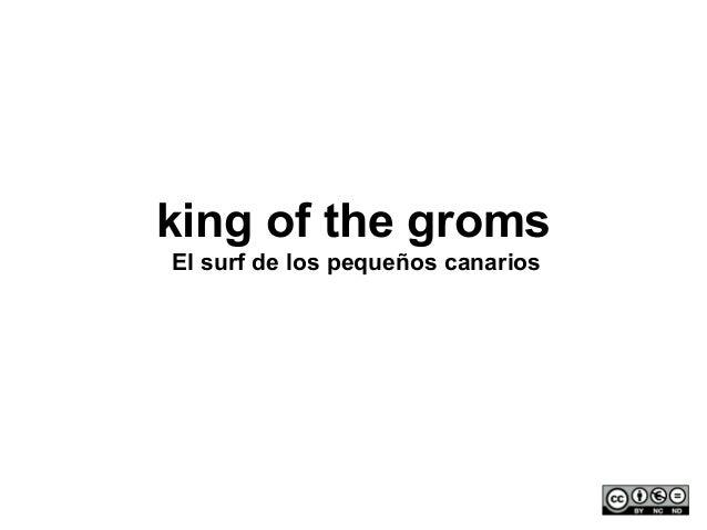 king of the gromsEl surf de los pequeños canarios