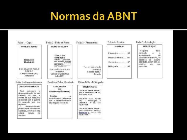 Normas da abnt para monografia 2014