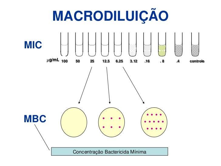 Efeitos da variação de Magnésio e Cálcio </li></li></ul><li>TESTE DE DIFUSÃO EM ÁGAR<br />Discos <br /><ul><li>Conservaçã...