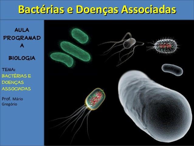BBaaccttéérriiaass ee DDooeennççaass AAssssoocciiaaddaass  Aula  Programad  a  Biologia  Tema:  Bactérias e  doenças  asso...