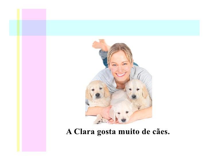 A Clara gosta muito de cães.