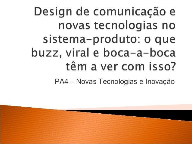 PA4 – Novas Tecnologias e Inovação