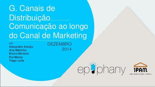 G. Canais de  Distribuição  Comunicação ao longo  do Canal de Marketing  por  Alexandre Araújo  Ana Marinho  Bruno Moreira...