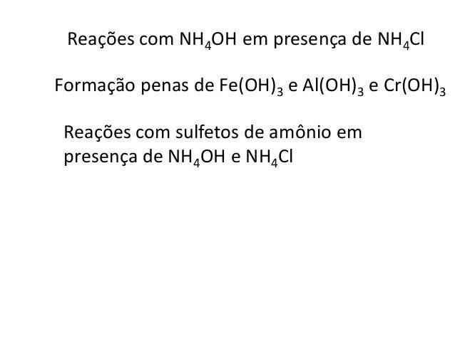 A tioacetamida produz ion S2- em meio alcalino de  acordo com a equação  CH3CSNH2 + 3OH- → CH3COO- + S2- + H2O  Mn2+ + S2-...