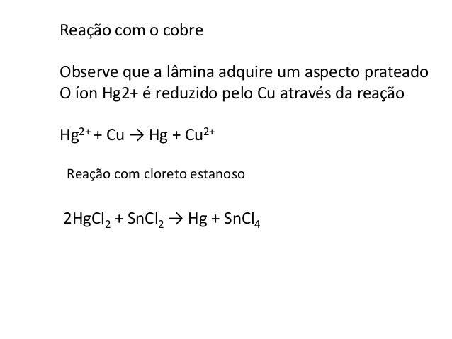 2+,  Análise de cátions do grupo V: Hg2  Ag+, Pb2+