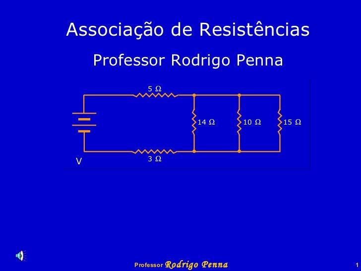 Associação de Resistências Professor Rodrigo Penna V 5    3    14    10    15   