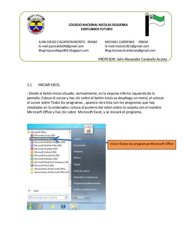 COLEGIO NACIONAL NICOLAS ESGUERRA EDIFICAMOS FUTURO  JUAN DIEGO CALDERON MONTO -904JM G-mail:juancalde04@gmail.com Blog:ti...