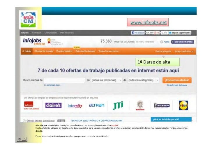 Buenas pr cticas y uso de p ginas web de empleo y cv for Portal empleo madrid