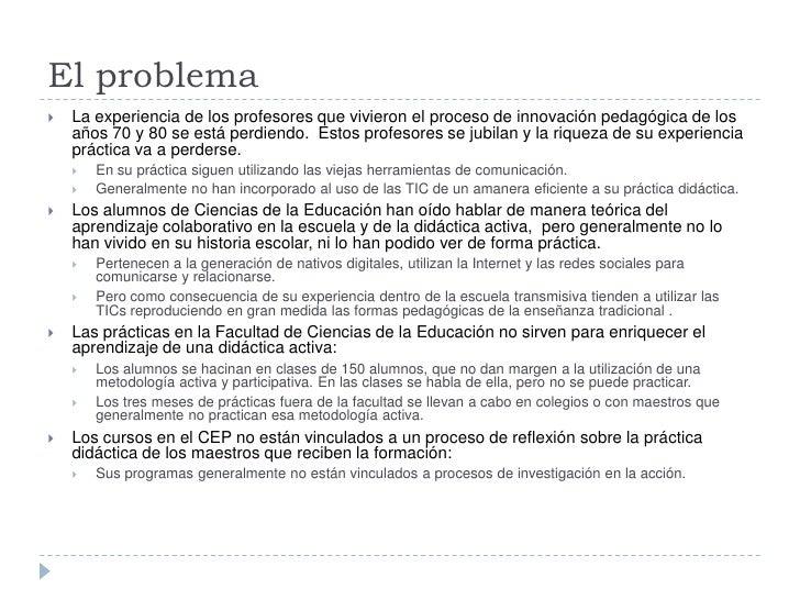 Educación: experiencia de tutorización integeneracional para una escuela colaborativa 2.0 Slide 2