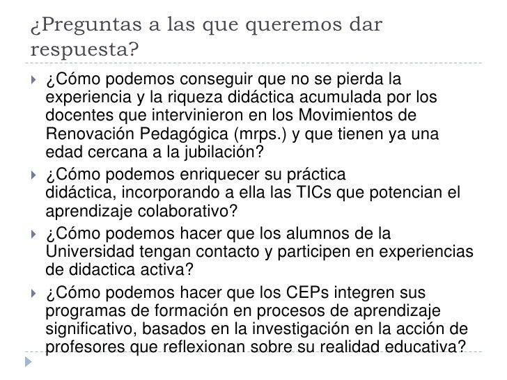 Educación: experiencia de tutorización integeneracional para una escuela colaborativa 2.0 Slide 3