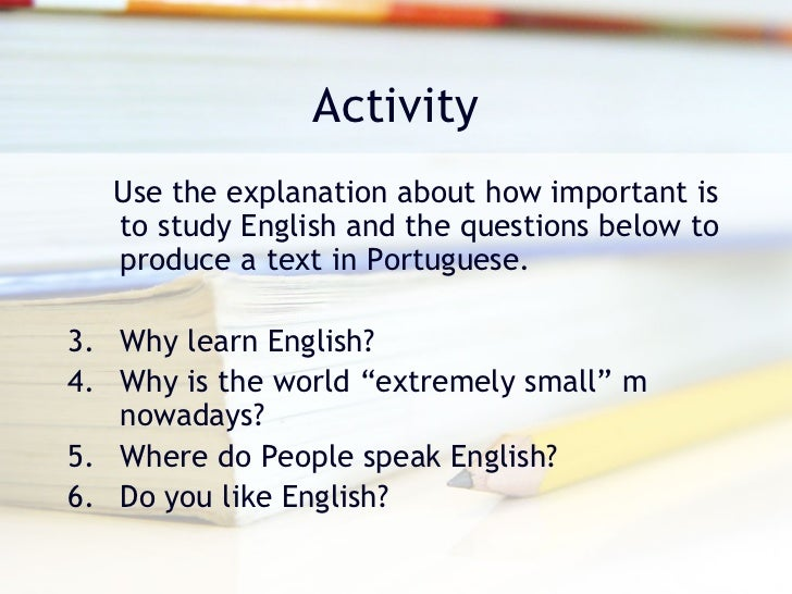 Essay On Why Learning English Is Important Mediafiles