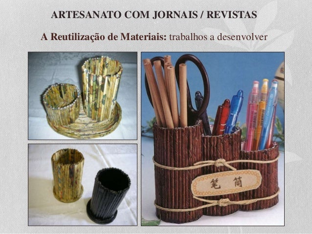 Andrea Artesanato Goiania ~ Aula de Artesanato com Jornais e Revistas