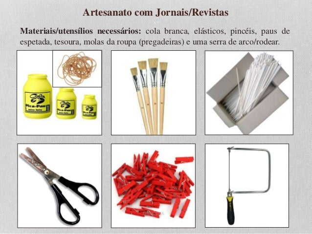 Aparador Ferro E Vidro ~ Aula de Artesanato com Jornais e Revistas