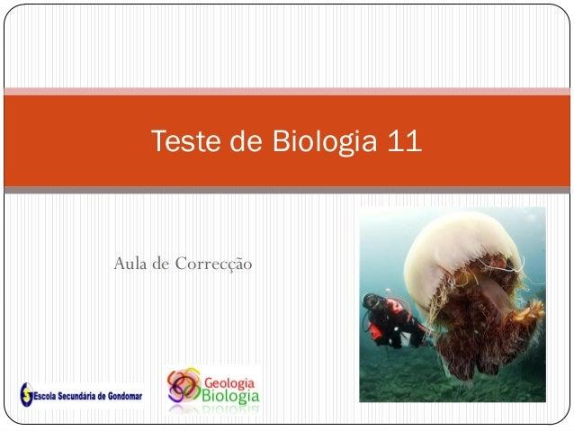 Aula de Correcção Teste de Biologia 11