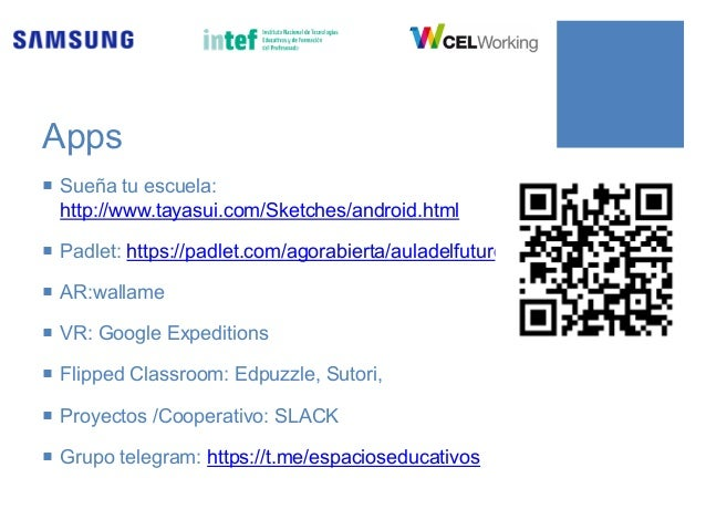 RECURSOS ¡ Future Classroom Lab: http://fcl.eun.org ¡ Learning Spaces Guide: https://goo.gl/xLsWLs ¡ Toolkit Future Classr...