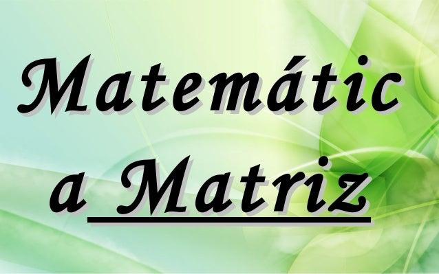 Matemática Matriz