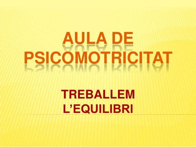 AULA DE PSICOMOTRICITAT TREBALLEM L'EQUILIBRI