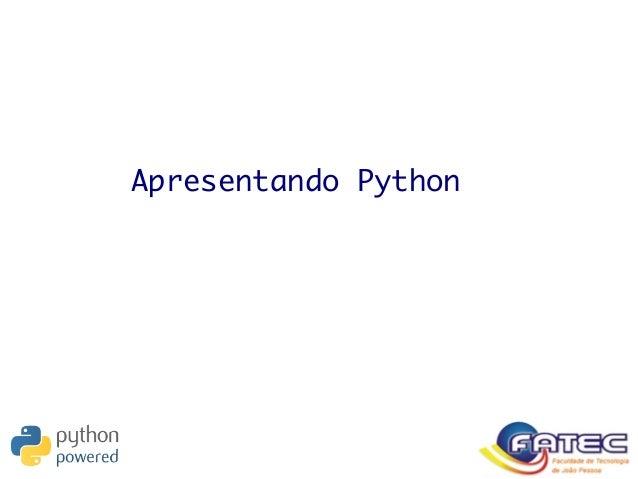 Apresentando Python